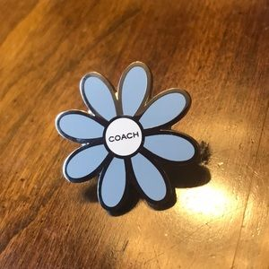 Coach baby blue daisy pin. Gently used few times